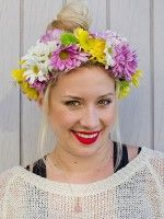 Flower Power! DIY This Pretty Headband For Festival Season & Beyond #refinery29  http://www.refinery29.com/32639#slide-8  And ta-da — you've got yourself a flora-filled headdress!  Photographed by Christine Ting
