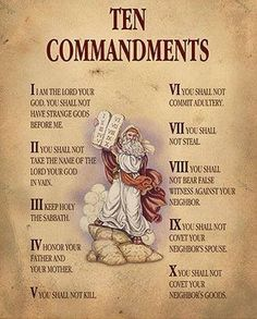 REMEMBER:These are the Ten Commandments, not the Ten Suggestions