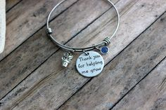 Thank you for helping me grow teacher by BeachCoveJewelry on Etsy