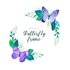 Watercolor butterfly lovely floral frame with butterflies semicolon tattoo Cherry Blossom Background, Pink And White Background, Butterfly Frame, Butterfly Flowers, Butterfly Watercolor, Watercolor Rose, Rose Frame, Flower Frame, Floral Vintage