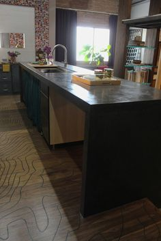 This Makes Me Want To Go Back To The Ardex Feather Finish Concrete  Countertop Idea, But In Black.