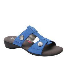 Blue Marissa Leather Sandal