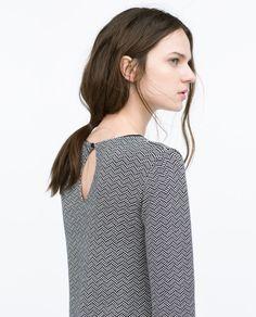 ZARA - WOMAN - MICRO JACQUARD A-LINE DRESS