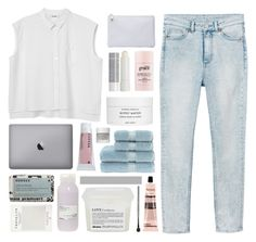 """simplicity"" by omgjailah ❤ liked on Polyvore featuring Monki, Korres, Jil Sander, philosophy, Byredo, Christy, Omorovicza, Mark's Tokyo Edge, Davines and Aesop"