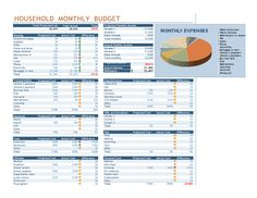 Graphical Representation Household Budget Template Excel Invoice - Budget invoice template