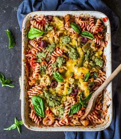 Vegan pizza pasta bake
