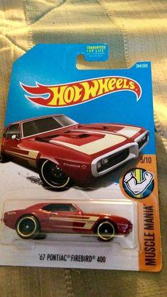 2015 Mattel Hot Wheels'67 Pontiac Firebird 400 Muscle Mania Diecast 3+ 1:64 #Mattel #Pontiac