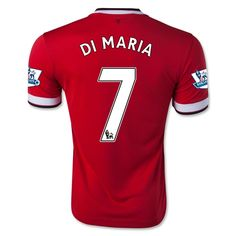 Men's 2014/15 Manchester United Ángel Di María 7 Red Home Soccer Jersey