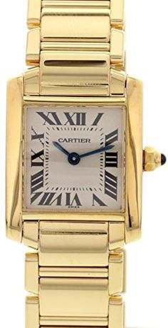 Cartier Tank Francaise swiss-quartz white womens Watch 2385 (Certified Pre-owned) - Brought to you by Avarsha.com