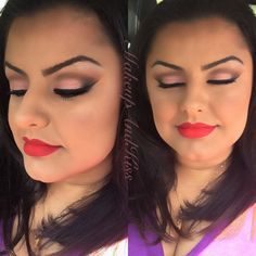 Makeup done by yours truly <3 Omg I love this can someone do my hair like this  #loveit #cool #tutorial #delicia #fashion #customization #chocolate #love #makeupporn #penteado #makeup #makeupjunkie #creative #video #colorful  #inspiration #perfect #diy #tips #hairstyle #mua  #delicious #food #decor #nails #followme #maquiagem #videos #dica #customizacao by makeupandkiss