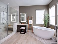 Bathroom Flow through Flooring