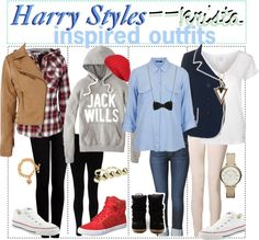 """""""Harry Styles Inspired Outfits (;"""" by the-polyvore-tips ❤ liked on Polyvore"""
