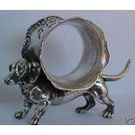 dachshund - page 851 Ring Holders, Silver Napkin Rings, Dog Things, Vintage Dog, Weiner Dogs, Dachshunds, Pewter, Rocks, Victorian