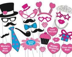 Popstar and Rockstar Party Photo booth Props Set by TheQuirkyQuail