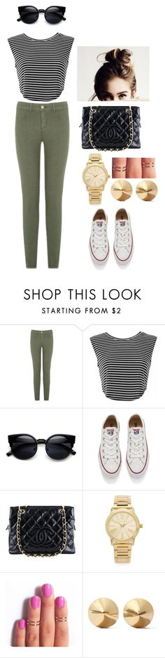 """#OOTD"" by izzy-ccix on Polyvore featuring Converse, Chanel, Michael Kors, Eddie Borgo, women's clothing, women, female, woman, misses and juniors"