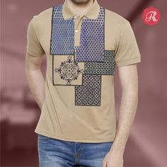 Boldly sophisticated, these Moroccan-inspired designs show the perfect blending of cultures in most exquisite style.  Buy this Hand-painted Moroccan Blocks T-shirt from http://bit.ly/1XNcWpp