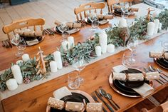 Copper and Black with a classy Eucalyptus runner for a very Australian Christmas table setup & The 7 best Australian Christmas Table Setup images on Pinterest in ...