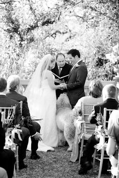 Doodle helping with wedding vows.