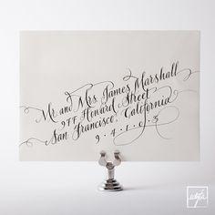 Calligrapher: Michele Papineau, @Eunice & Sabrina Moyle | Hello!Lucky photo: edytaphoto