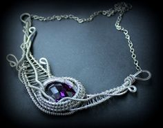 Wire Wrapped Necklace/Pendant/Handmade Necklace/ by NShift on Etsy