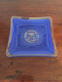 Vintage Chance Glass Dish - British Association Of Myasthenics  | eBay