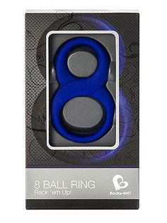 Rocks Off 8 Ball Cock Ring £13.99  Reassuringly comfortable to wear, this unique designed double ring is just the right fit to improve your erection strength and give you extra stamina to keep both you and your partner utterly satisfied. #rocksoff #cockring