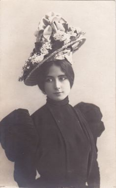 PRE1905 Beautiful Cleo de Merode in Awesome Hat Original Vintage Postcard | eBay
