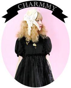 """Kawaii in black """"Charmmy Dress"""" by Alice x Alice  www.alicexalice.com"""