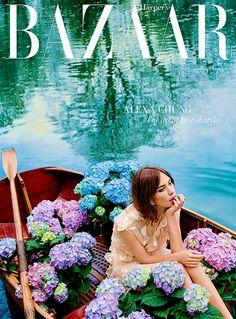 alexachung:    Alexa Chung on the cover of Harper's Bazaar (photographed by David Slijper), July 2015
