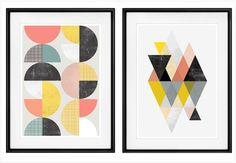 Couleurs douces, formes géométriques, design épuré : les affiches inspirées des motifsscandinaves traditionnelsvous plaisent mais vous ne savez pas où