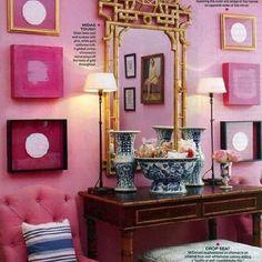Pagoda Mirror, Eclectic, entrance/foyer, Mary McDonald