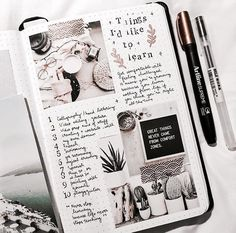 Things to learn bullet journal page Album Journal, Scrapbook Journal, Journal Layout, My Journal, Journal Pages, Bullet Journal Notes, Bullet Journal Aesthetic, Bullet Journal Spread, Books To Read Bullet Journal
