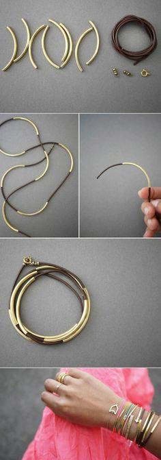 bracelet a faire soi meme, comment fabriquer des bijoux à la maison