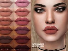 The Sims 4 Natural Kiss Lipstick Les Sims 4 Pc, Sims Four, Los Sims 4 Mods, Sims 4 Game Mods, Sims 4 Tsr, Sims Cc, Sims 4 Piercings, Maxis, The Sims 4 Skin