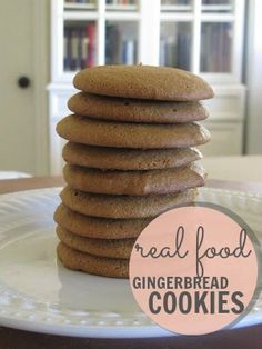 Healthy Soft Gingerbread Cookies - no sugar, uses some honey and molasses   Weed'em & ReapWeed'em & Reap