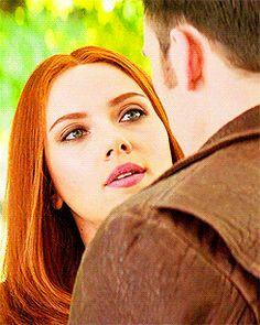 Natasha after kissing Steve