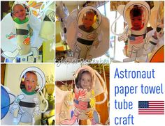 Craft: Astronaut toilet paper tube craft, ages 3 and up