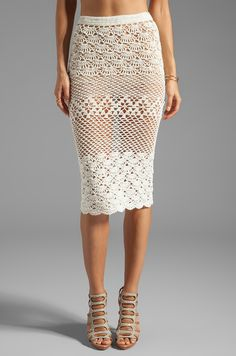 Spell & The Gypsy Collective Coconut Crochet Skirt en Off White | REVOLVE
