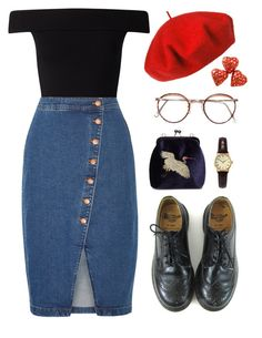 """""""sophisticated sophie"""" by gawjuice ❤ liked on Polyvore featuring Betmar, Miss Selfridge, Dr. Martens, Madewell and Sekonda"""