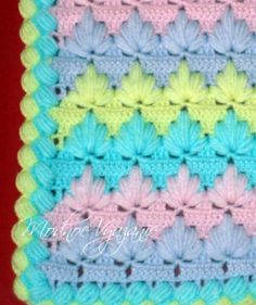 Узоры  *Веера* для вязания крючком - Crochet Modnoe Vyazanie Afghan Blanket, Baby Blanket Crochet, Crochet Shawl, Crochet Doilies, Crochet Baby, Knitting Stiches, Knitting Patterns, Crochet Patterns, Crochet Crocodile Stitch