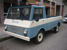 '75 VIASA Jeep Campeador ... rare Spanish license-built truck engineered around the same chassis as used by American market FC or Forward Control series Jeeps. Available with either the familiar Super Hurricane gas six or a Perkins-made four-cylinder diesel. Weird, ugly and collectible.
