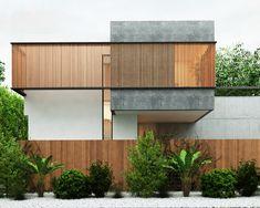 Noor villa designed by mazandaran-based architect Reza Hedayatpoor. Concrete Architecture, Cultural Architecture, Education Architecture, Classic Architecture, Amazing Architecture, Contemporary Architecture, Architecture Design, Croquis Architecture, Architecture Visualization