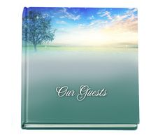 "Memorial Guest Book 8""x8"" Hardcover Glossy Custom Destiny Guest Book, add photo on front cover, if desired"