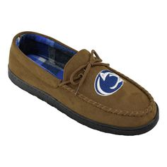Men's Wide-Width Penn State Nittany Lions Microsuede Moccasins, Size: 11, Brown