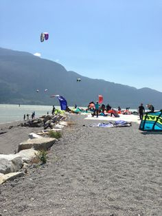 Squamish Spit with Canada Kiteboarding Lessons