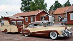 1947 Buick Super Sedanette 1965 Constructam caravan. From Atomic Samba on Facebook #buick #sedanette #pin #twitter
