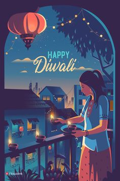 Pinterest is proud to collaborate with talented Indian artists this Diwali to create a selection of festive greetings. Be #VocalForLocal by sharing them with friends and family! Designed by: @liquidink Ranganath is a multi disciplinary designer specialising in Illustration, art direction and experience design. He is a Bangalorean at heart, and draws the inspiration to create from the life around him - vintage architecture, culture, street art and machinery. Diwali Cards, Diwali Greeting Cards, Diwali Greetings, Happy Diwali Images Hd, Happy Diwali Wallpapers, Happy Diwali Poster, Happy Diwali Pictures, Diwali Wishes Quotes, Best Diwali Wishes