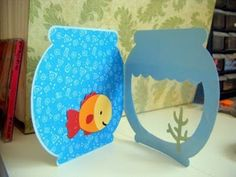 geschenk-für-opa-basteln-fisch-aquarium-meerespflanze