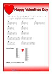 70 Free ESL, EFL worksheets made by teachers for teachers Origin Of Valentine, Valentine's Day Origin, Esl, Happy Valentines Day, Worksheets, Physics, Classroom, Teacher, Activities