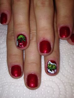 Grinch nails by Sue Tumblety